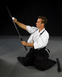 Shihan Dana Abbott with Sword